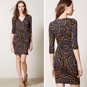 Anthropologie Lena Wrap Dress By Vanessa Virginia